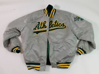 Art Kusnyer signed game worn used 1991 Oakland A's jacket! Authentic!