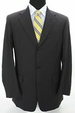 Ted Baker London Men's 3 Btn Suit Navy Blue Red Pinstripe Wool 40 L x 33W