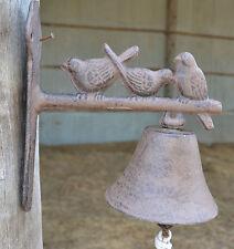 Cast Iron Rustic New   Bird Hanging  Door Bell Antique Vintage front Door
