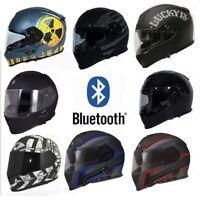 TORC T14B Mako Motorcycle Helmet DOT Built In Bluetooth Full Face Dual Visor