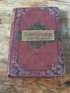 SHAKESPEARE BIRTHDAY BOOK - ANTIQUE - SMALL DIARY - USED IN PARTS