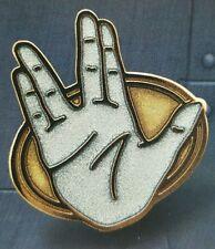 """SPOCK's """"Live Long and Prosper"""" Sign Premium Pin STAR TREK"""