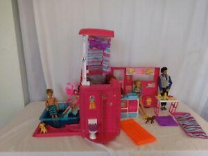 Barbie Sisters Go Camping Pop-up Pink RV Camper + Pool + Bike + Dolls +