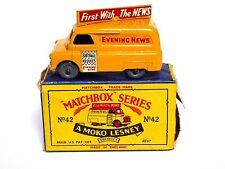 Matchbox Lesney No.42a Bedford Evening News Van In Type B2 Box (GPW, VGC MODEL!)