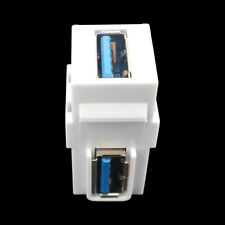 USB 3.0 A Female to Female Extension Keystone Jack Socket Coupler Adapter White
