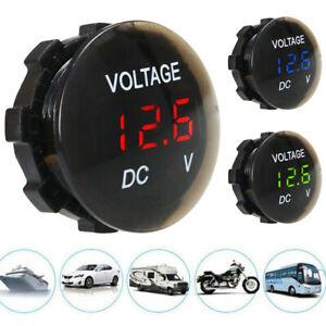 12V-24V Car Motorcycle Universal Waterproof Mini LED Digital Display Voltmeter´