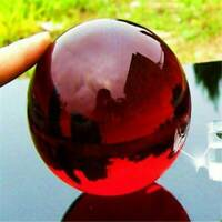 Magic Crystal 40mm +Stand Asian Rare Natural Quartz Dark Red Healing Ball Sphere