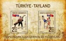 2018 Turkey 60. Thailand Diplomatic Relations Mini Sheeet Joint Issue MNH Flags