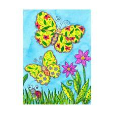 "Butterfly Flutters 12.5"" X 18"" Garden Flag 11-1735-146 Rain Or Shine Summer"