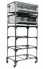 New listing New Gqf 0316 Quail Poultry Battery Stack Breeding Pen Stand + Pens