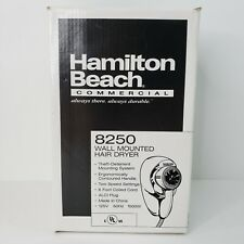 Hair Dryer Hamilton Beach 8250 Wall Mounted 2 Speeds 1500W Commercial Hotel