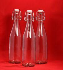 6 x 250 ml leere Bügelverschluss Bügelflasche Glas Flasche Schnapsflasche NEU