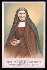 antico santino cromo-holy card S.D. MARIA FRANCESCA DI S.GIUSEPPE LORAIN