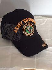 U. S. ARMY VETERAN BALL CAP HAT BIN 3 SHADOW
