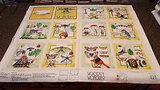 Woodsy Wonders Fabric Cloth Book Panel 35x42 J Wecker Frisch Collector's Journal