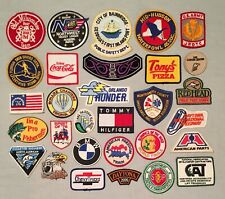 Vintage Lot of 30 Souvenir PATCHES Harley Fishing Sports Travel Beer Racing +++