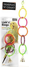 Bird Cage Toy Link 'a' Rings Bell Toy Budgie Parakeet Cockatiel pet