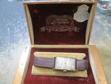Vintage LONGINES EARLY GOLD FILLED CASE Running Watch IN THE ORIGINAL BOX