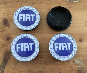 Brand New Fiat Punto 50mm Alloy wheel centre Center caps x 4pcs (44mm Bore Hole)
