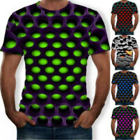Funny Hypnosis 3D T-Shirt Men Women Colorful Print Casual Short Sleeve Tee Soft