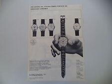advertising Pubblicità 1962 OROLOGIO LONGINES FLAGSHIP