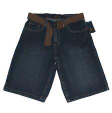 New $42 Mens USPA Belted Denim Jean Shorts US Polo Assn Sizes W34 W36 Dark Blue