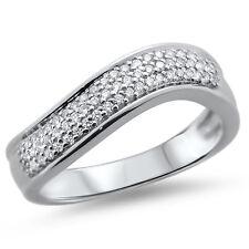 F/VVS Micro Pave Setting Round Diamond Half Eternity Wedding Ring,18K White Gold