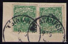 KIAUTSCHOU, Mi-Nr. V 46 (2), Vorläufer, Briefstück