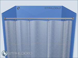 Duschabtrennung Ø 10mm  bis 120cm Edelstahl-V2A