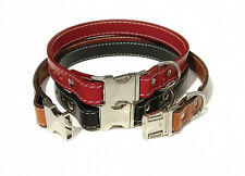 Auburn Leathercrafters QUALITY Leather Dog SENECA ADJUSTABLE Collars 4 Colors!