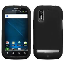 Black Rubber SILICONE Soft Gel SKIN Case Cover for Motorola Electrify