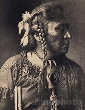 1900/72 Folio Size NATIVE AMERICAN INDIAN Atsina Warrior Photo Art EDWARD CURTIS