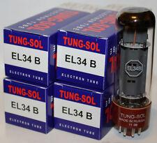 Matched Quad Tung Sol EL34 EL34B tubes, Brand New Reissue !