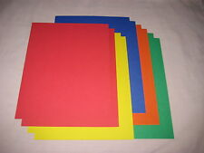SALE!! 8.5 x 11 CARDSTOCK PAPER - PRIMARY COLORS - LOT OF 10 - NEW!!