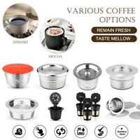 Refillable Reusable Coffee Capsules Cup Filter Pod Fits Keurig/Nespresso/Delta Q