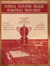1945 NIT Championship Finals Program De Paul, George Mikan