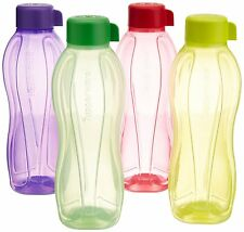 Tupperware Aquasafe Water Bottle Set, 1 Litre, Set of 4, Multicolor Free Ship RG