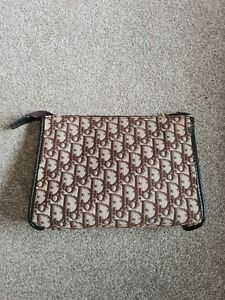Vintage Christian dior clutch bag brown monogram