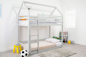 Flair Furnishings Play House Bunk Bed -Grey