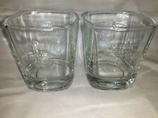 """Set of 2 Rare JACK DANIELS Old No.7 WHISKEY Rock Glasses """"Every Day We Make It"""""""