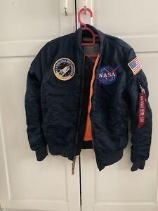alpha industries Bomber Jacket Small NASA Edition