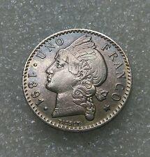 1 Franco República Dominicana 1891 XF