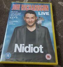JON RICHARDSON NIDIOT DVD COMEDY STAND UP SEALED