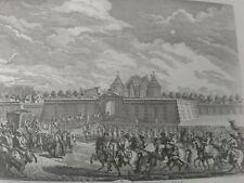 Gravure prent print arrivée du Roi au havre duc de saint aignan, gouverneur 1749