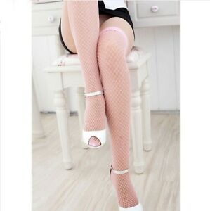 Sexy Ladies Thigh High Pantyhose Hold-up Tights Sheer Lace Top Stay Up Stockings