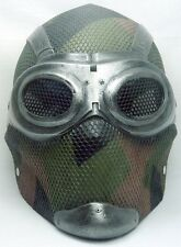 "Army of Two ""Thane 3"" (Noir) Woodland Custom Fiberglass Paintball / Airsoft Mask"