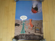 NOS!! 80s vtg GUMBY and POKEY meteor TV SHOW toy POSTER 1987 WOW