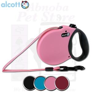 Alcott Adventure Retractable Lead Soft Grip Handle Reflective - Matching Collars