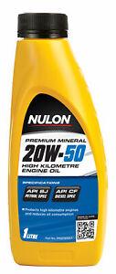 Nulon Premium Mineral Oil High Kilometre 20W-50 1L PM20W50-1 fits Wolseley 16...