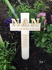 Personalised NAN Memorial Remembrance Cross Funeral